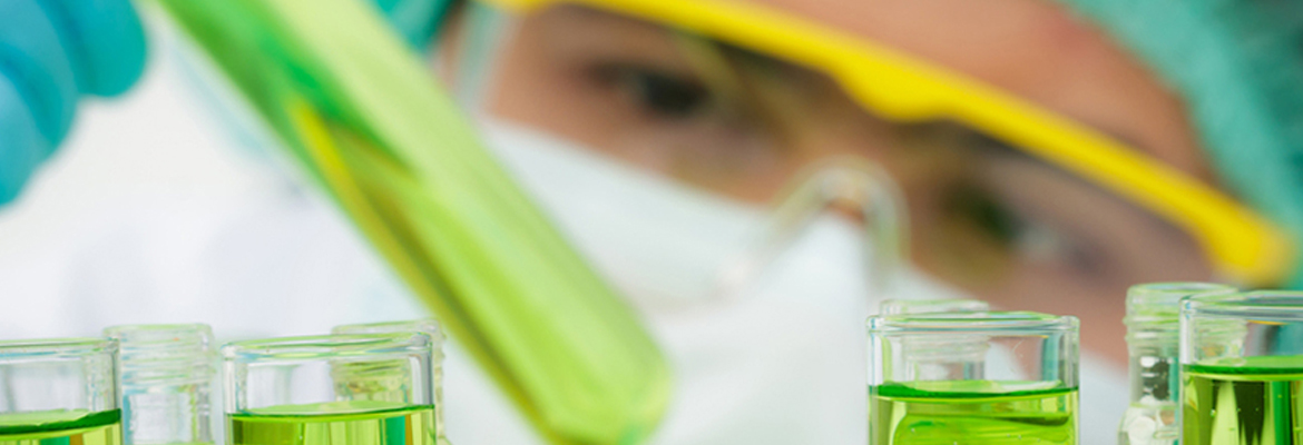 Banner image of lab specialist working